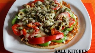 Vegetable Pizza  (Without Oven  Stove Top)
