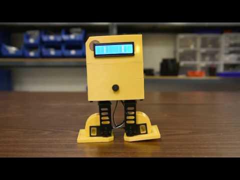 Introducing RobotGeek Chip-E Bipedal 3D Printed Arduino Robot!