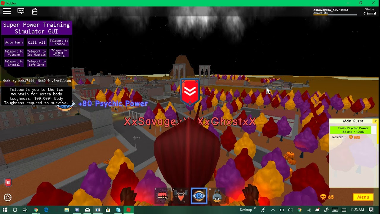 Super power Training simulator hack Auto farm best script pastebin