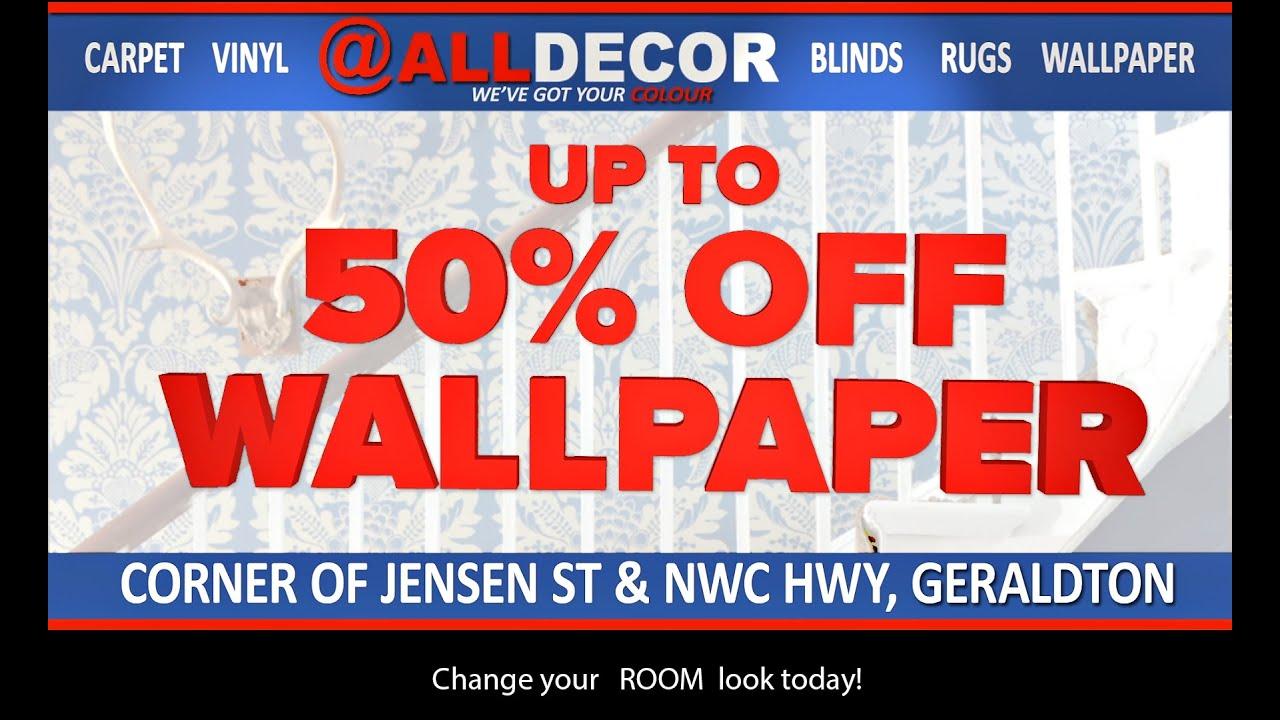 Alldecor wallpaper sale on now youtube for Wallpaper sale