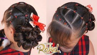 Recogido Elegante Pará Fiestas/ Peinado Con Ligas Fácil/ Hairstyle for girls
