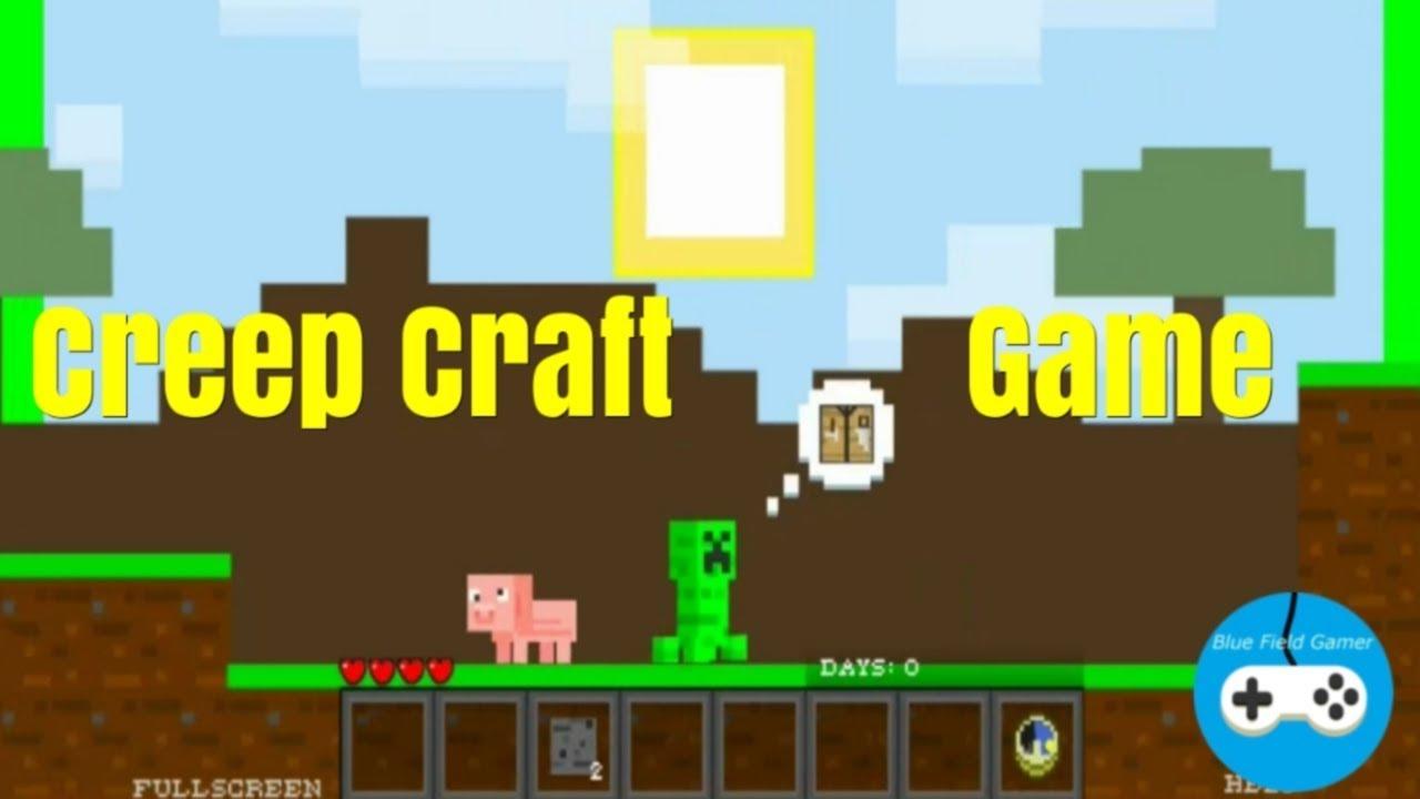 Creep Craft game / MINECRAFT 2D CLONE / Y8