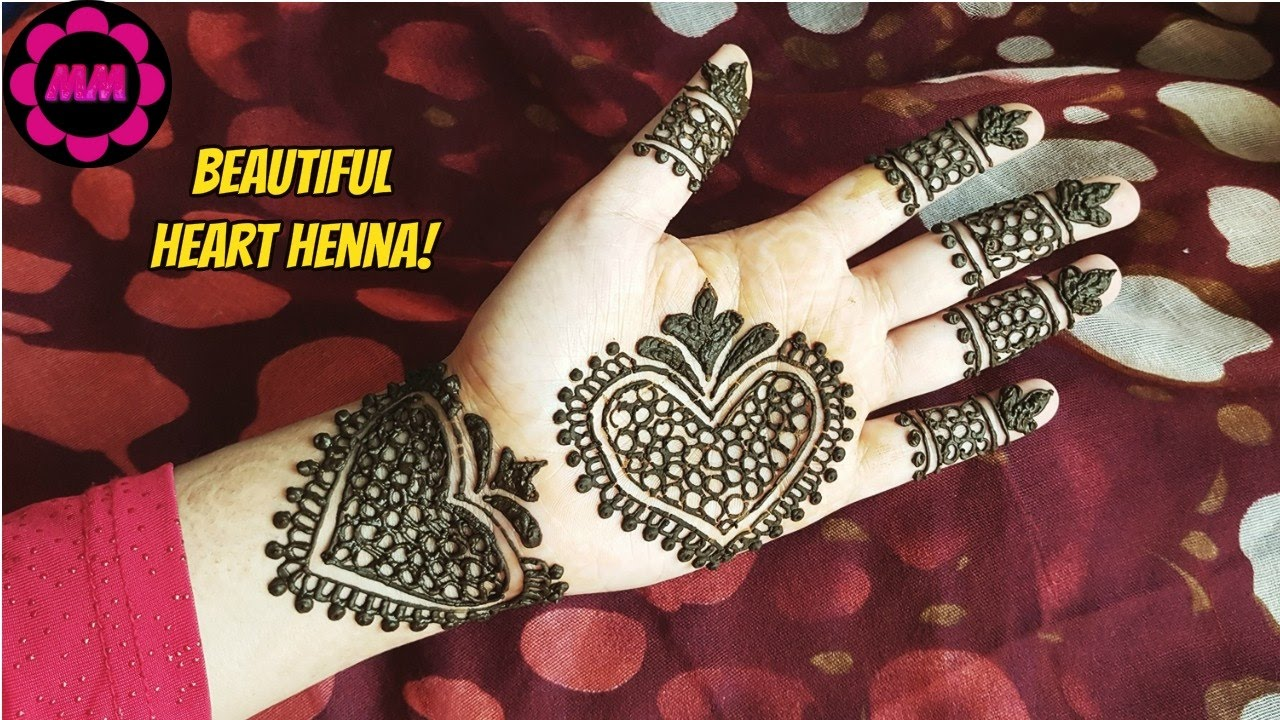 Easy Heart Henna Simple Beautiful Hearts Mehendi Design For Eid How