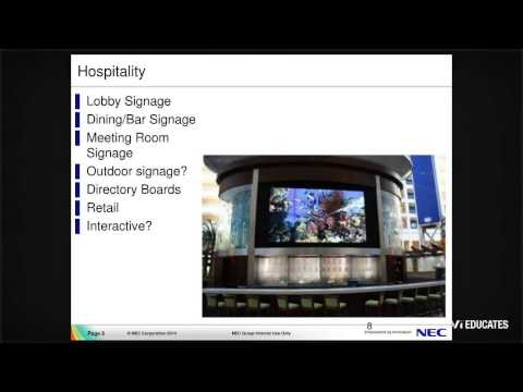 NEC Display Solutions Webinar - Large Format and Digital Signage