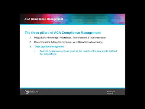 What are the Three Pillars of ACA Compliance Management?