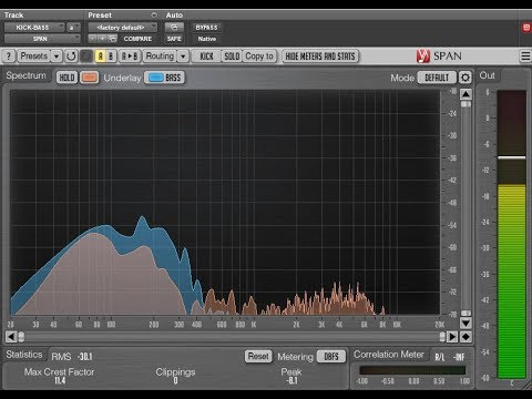 Voxengo SPAN: Multi-Channel Spectrum Analysis in Pro Tools