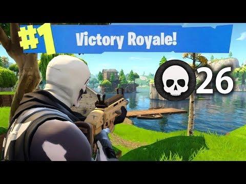 WIPING SQUADS 26 KILL WIN (Fortnite Battle Royale)