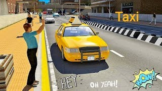 Taxi Simulator 2019 Taxi Game 3 Car Driving | Tiger Lion kids fun Gameplay Kids Video | Hannu Games