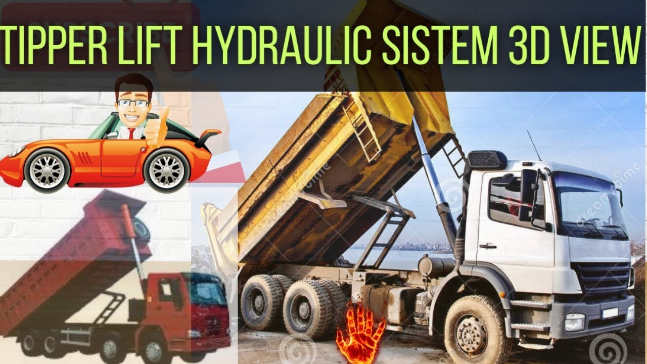 Download How to lift up hyva trolley /TIPPER LIFT HYDRAULIC SISTEM 3D ANIMATION