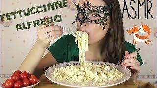 ASMR по-русски Фетучини Альфредо с курицей/ASMR Mukbang+Cooking Fettuccine Alfredo