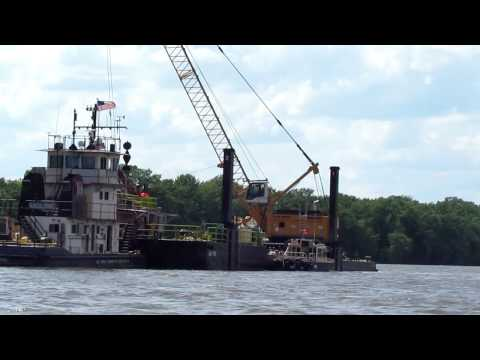 Corps Engineers Dredging Mississippi River.