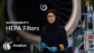 Keeping clean air circulating inside Qatar Airways aircraft
