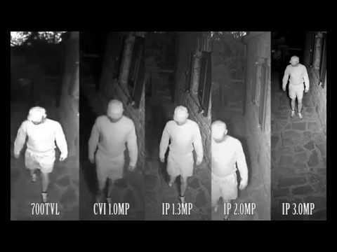 CCTV SURVEILLANCE CAMERA RESOLUTION COMPARISON QUICK SAMPLE