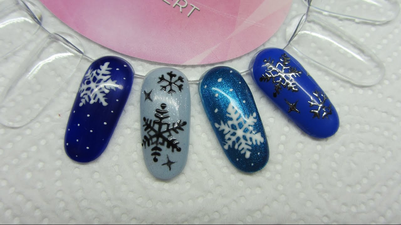 How To Easy Snowflakes On Nails Jak Zrobić śnieżynki Na