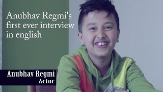 "Anubhav Regmi's first ever interview in english for Shekhar Chyan Lama's video ""Aama"""