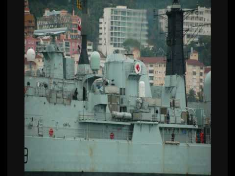 HMS Exeter  at Gibraltar 24-10-07