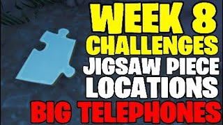 fortnite week 8 challenges jigsaw puzzle piece locations big telephone locations - telefon von pizza pit fortnite