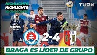 Highlights | Bratislava 2 - 4 SC Braga | Europa League - J 6 - Grupo K | TUDN