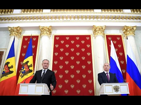 Vladimir Putin. Joint news conference with President of Moldova Igor Dodon