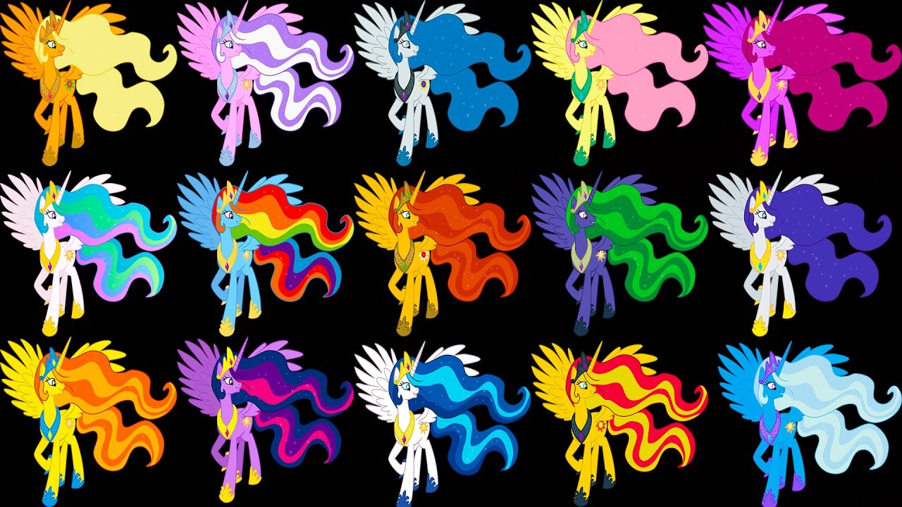 My Little Pony Transforms Mane 7 Color Swap Princess