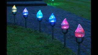 видео солнечные садовые светильники