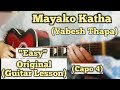 Mayako Katha Yabesh Thapa Guitar Lesson Easy Chords mp3