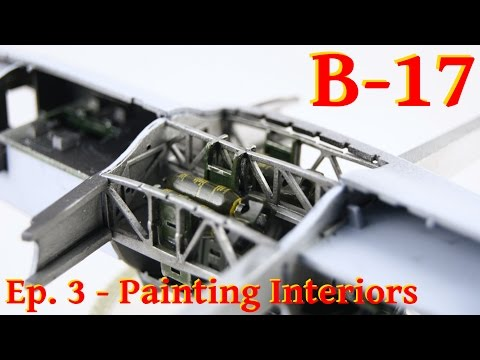 Model Flying Fortress B-17G - 1/72 Airfix - Painting Interiors