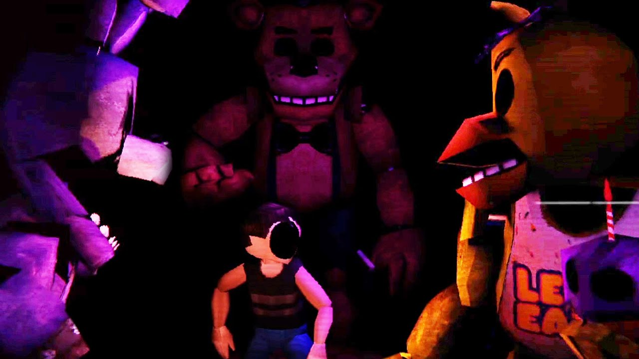 THE CRYING CHILD IS AGAINST THE FNAF 1 ANIMATRONICS...    FNAF VISITING FAZBEARS