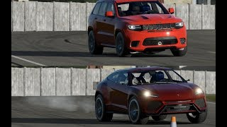Lamborghini Urus vs Jeep Grand Cherokee  SRT8 Trackhawk on Top Gear TRACK!