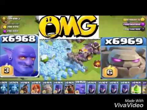 UNLIMITED TROOPS N GEMS | CLASH OF CLANS - ATTACKS