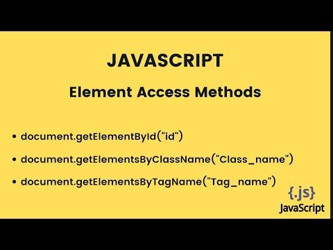 GetElementById In JavaScript : Element Access Methods