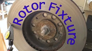 How to Skim a Disc Brake with a DIY Lathe Fixture (resurfacing fix)
