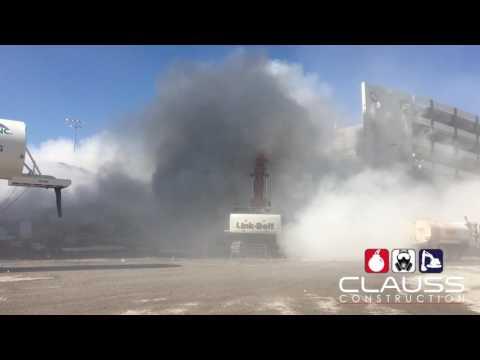 Riviera Hotel East Parking Garage Demolition By Clauss Construction