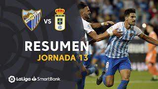 Resumen de Málaga CF vs Real Oviedo (2-1)