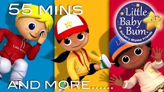Dancing Songs | Plus Lots More Nursery Rhymes | 55 Minutes Compilation from LittleBabyBum!