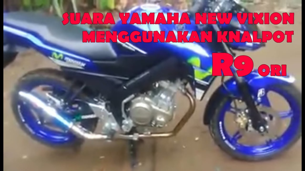 Suara Knalpot R9 Ori Modifikasi Motor Yamaha New Vixion Advance Full System Oldnew Mega Pro Mugello Black Suplier 2015