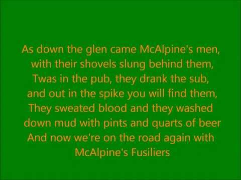 The Young Dubliners - McAlpines Fusiliers (lyrics)