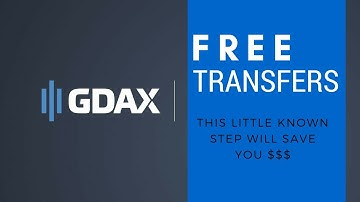 😳GDAX FREE Transfer Tutorial how Transfer to Another Exchange w/NO FEE 🤑 Crypto Video by WSM