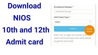 How to download hall ticket or admit card for secondary and senior secondary