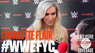 """Charlotte Flair interviewed at the """"WWE"""" FYC Event #WWEFYC #WWE #Emmys"""