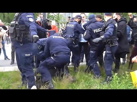 Protest Przedsiębiorców VS Policja (16.05.2020)