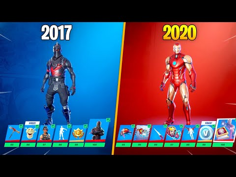 Evolution Of Fortnite Battle Pass 2017-2020