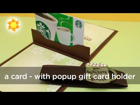 Pop-Up Gift Card Holders
