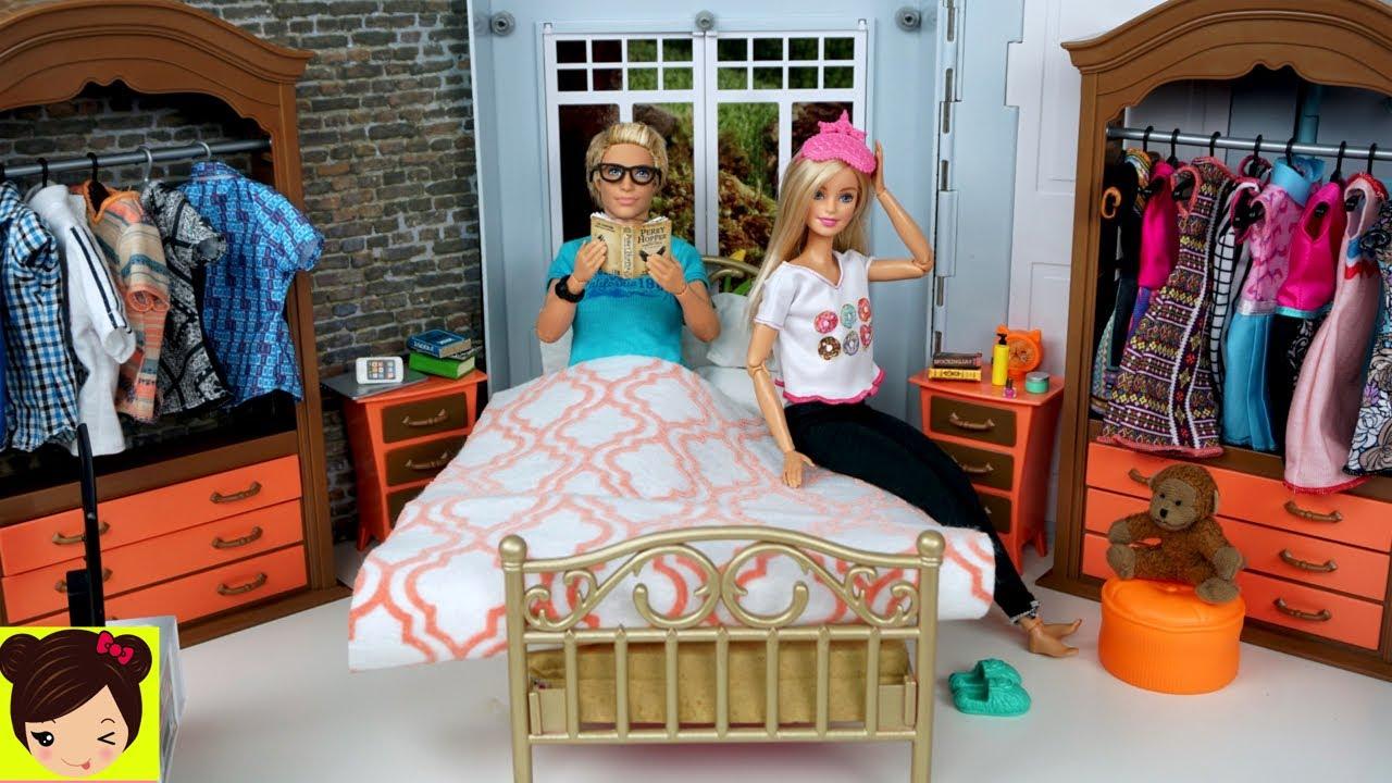 Barbie Y Ken Rutina De La Noche Ducha De Barbie Casa De