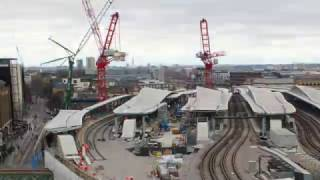 Tower crane removal at London Bridge station