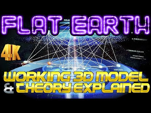 FLAT EARTH | WORKING 3D MODEL & THEORY EXPLAINED! ⁴ᴷ [2018 M