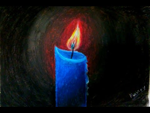 Candle Light Drawing | Candle Light | Candles drawing using Oil Pastels (2020)