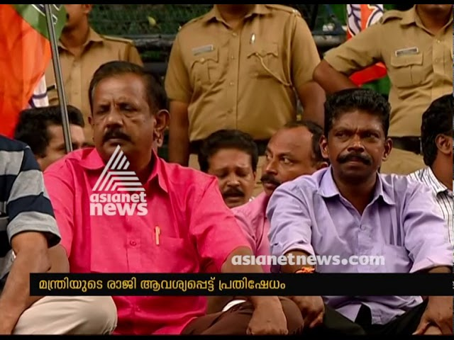 BJP protests in front of Secretariat, demands Thomas Chandy's resignation