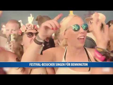 Festival-Besucher singen für Chester Bennington
