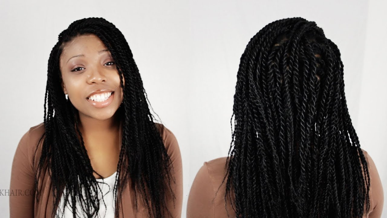 Senegalese Twists Rope Twist Finished Results Tutorial